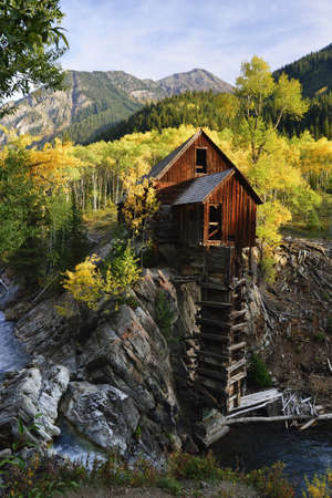 Abandoned Crystal Dead Horse Mill in Colorado during fall photo