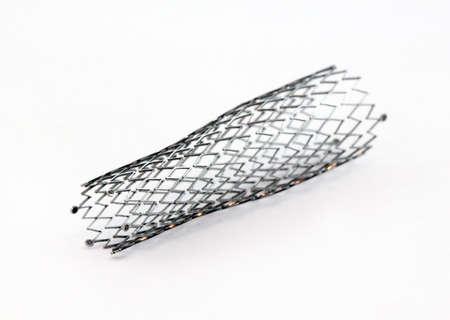 mesh metal nitinol self-expandable stent for endovascular surgery Stockfoto