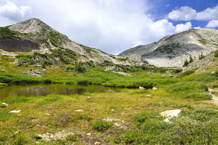 Medicine Bow Mountains in Wyoming during summer Stockfoto
