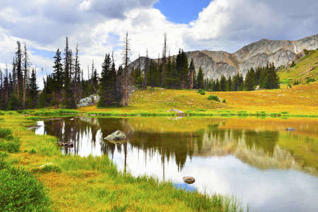 Medicine Bow Mountains in Wyoming during summer Stock Photo