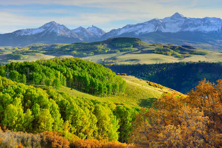 colourful mountains of Colorado during foliage season photo