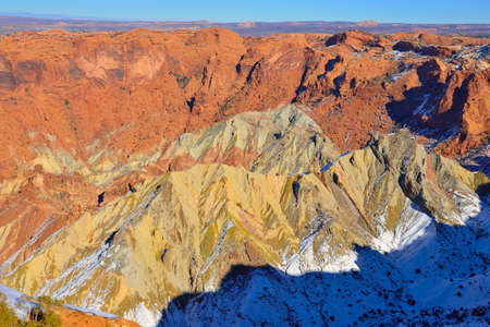 upheaval: Upheaval Dome in Canyonlands National Park, Utah in winter Stock Photo