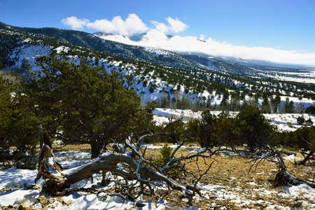 High Mountains of Colorado in Winter Stock Photo
