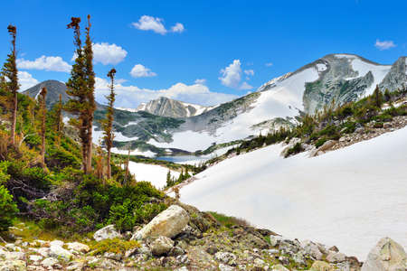 Snowy Range Mountains in Medicine Bow, Wyoming in summer Stock Photo
