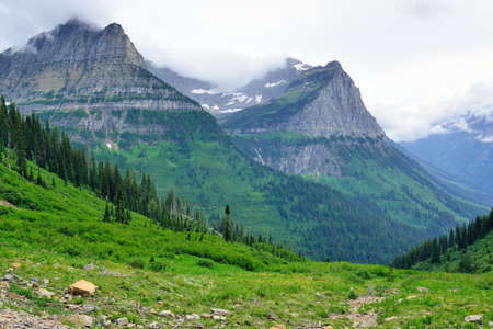 beautiful Glacier National Park summer landscape 版權商用圖片
