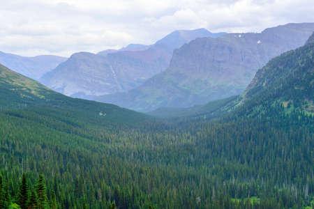Glacier National Park alpine landscape in summer