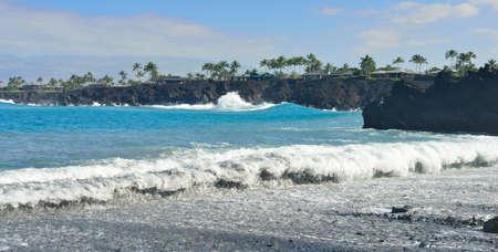 ocean seen from Mauna Lani beach Big Island of Hawaii
