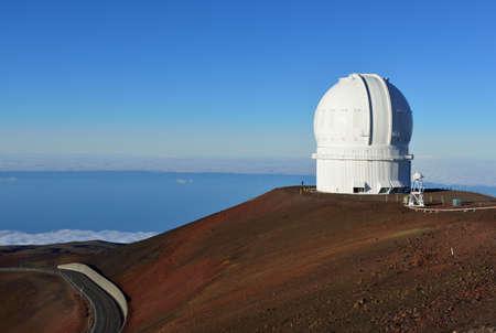 telescopi sulla sommità di Mauna Kea sulla Grande isola delle Hawaii