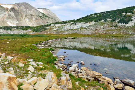 alpine landscape in the Medicine Bow Mountains of Wyoming in summer