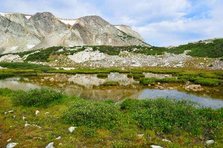 Paysage alpin dans les montagnes de Medicine Bow du Wyoming en été Banque d'images - 80986584