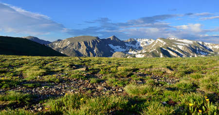 High alpine scenery of the rocky mountains national park, Colorado in summer