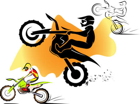 Motorcycle motocross sport extreme background design Vector