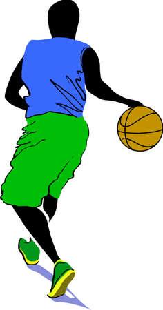 colorfull: basketball player, colorfull vector illustration Illustration