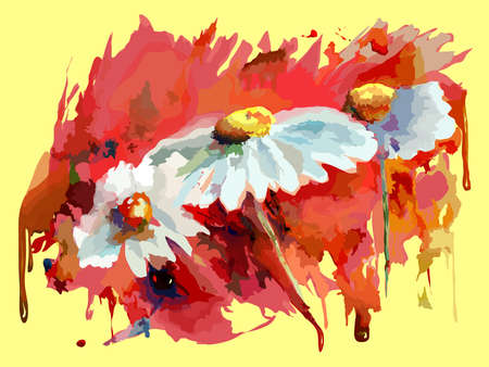 aquarel: Aquarel Flowers on colorfull background. Vector Watercolour Flowers.