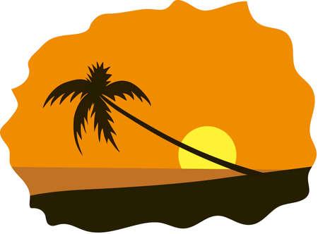 view wallpaper: Summer holidays background. Seaside View Poster. Vector beach resort wallpaper illustration Illustration