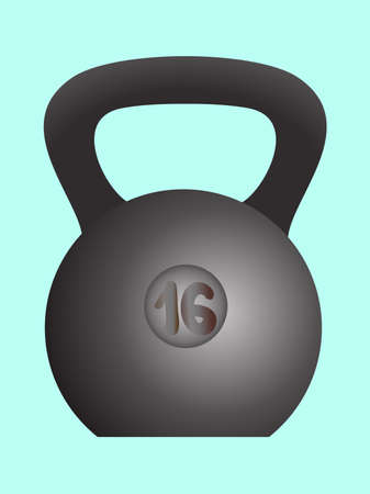 Weight, sports equipment strong girya picture , vector illustration