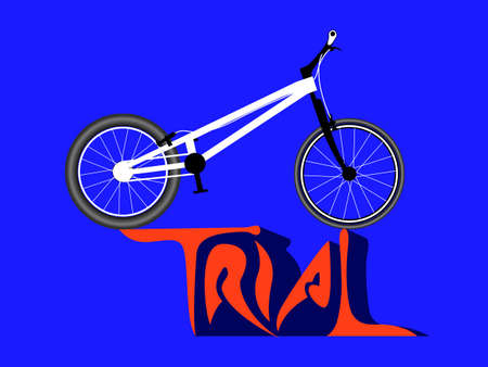 extremal: A bike for tricks and jumps. Trial bicycle. Vector illustration
