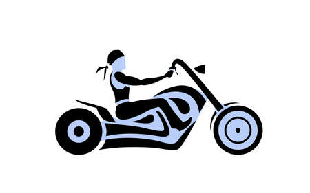 motorcycle rider: Motorcycle rider. Custom chopper vintage moto, american style. vector illustration Illustration