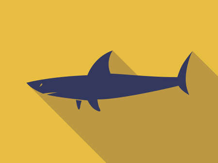 Silhouette of Shark. sign logo symbol icon. fish graphic vector in flat design. 向量圖像