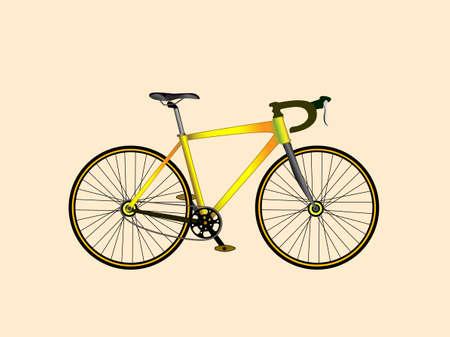 circuit brake: Urban street speed sport Bicycle. Vector illustration