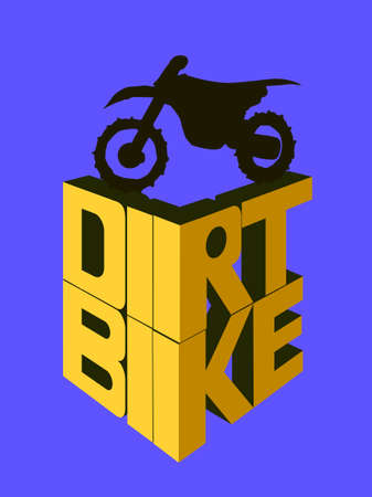 dirt bike: Motorcycle 3d, dirt bike words.