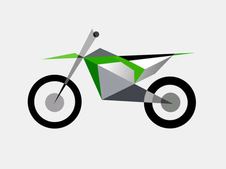 Sport motorcycle simple color vector illustration