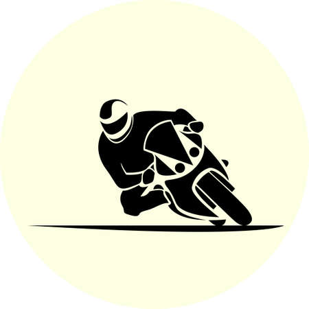 moto gp: illustration of motorcycle racer on sportbike
