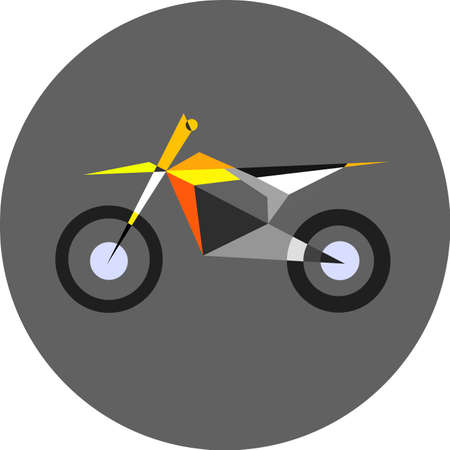 supercross: Sport motorcycle simple color illustration