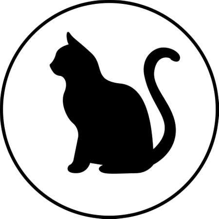 sagoma nera di illustrazione cat.