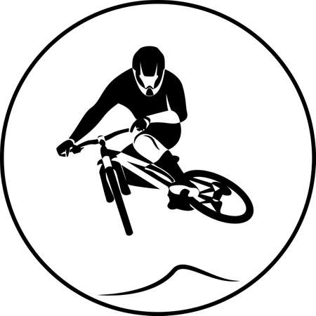 extreme: sport bicycle racer extreme jump
