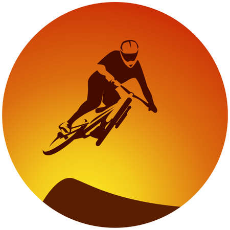 racer: sport bicycle racer extreme jump illustration