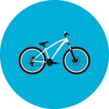 MTB Dirt street extreme sport white Bicycle. Illustration Illustration