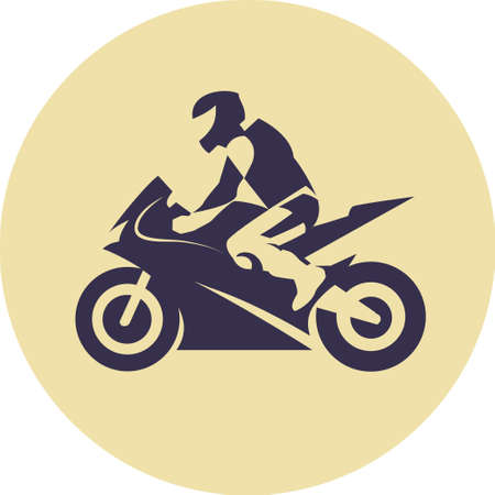 extremesport: Vector illustration of motorcycle racer on sportbike Illustration