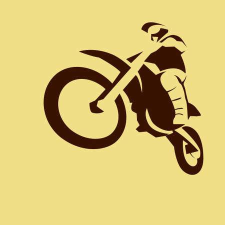 Motocross enduro racer