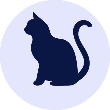 Dark silhouette of cat Illustration