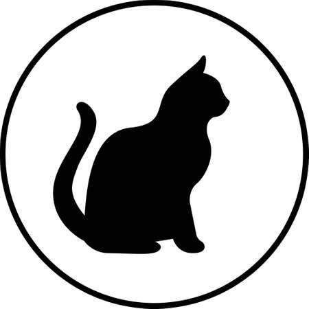 Black cat silhouet