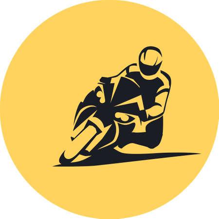Extreme Motorbike sportbike Rider vector illustration Illustration