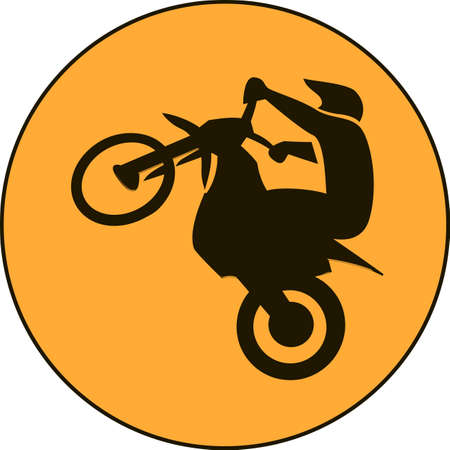 Motocross enduro free-ride sign Illustration