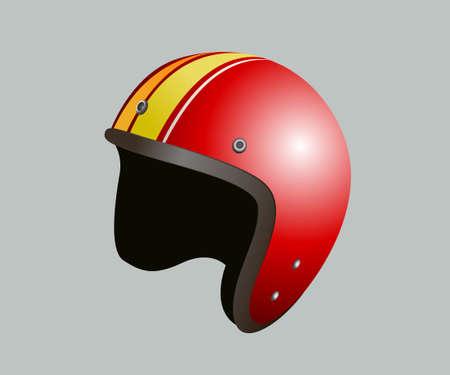 Casque à moto rouge