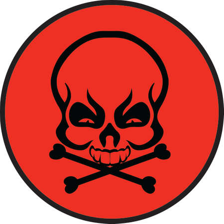 beware: vector danger sign