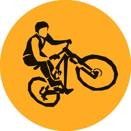 mtb: extreme bicycle mtb dirt racer