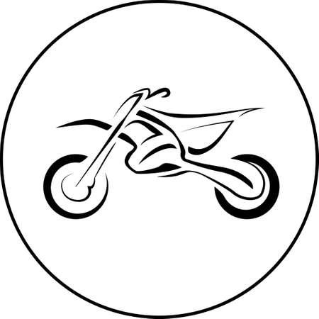 Sport motorcycle bike on white background.