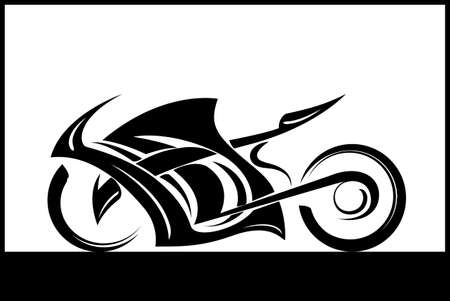 Sportbike icon tattoo design motorcycle illustration.
