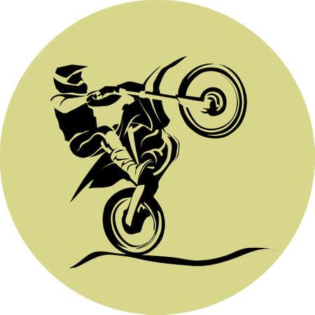 vettore di motociclista