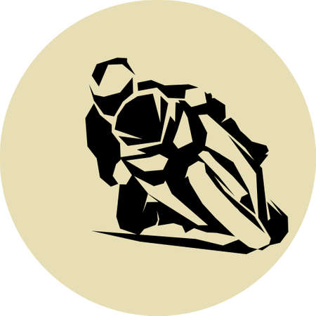 Motorcycle racer on sport bike Vector illustration