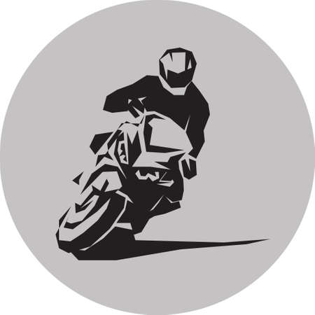 Vector motorcycle racer Illustration
