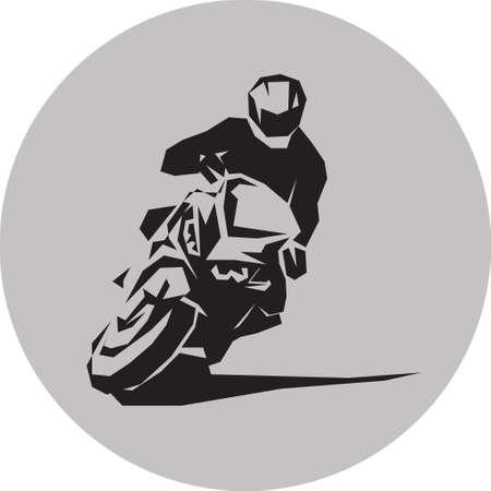 Vector motorcycle racer Çizim