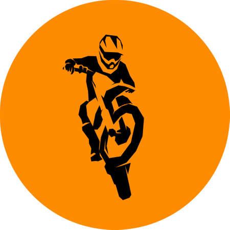 Motocross enduro background Illusztráció