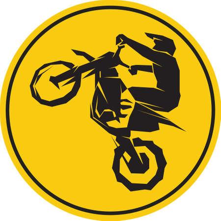 Motocross enduro background Çizim