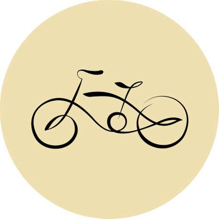 Bicycle line icon Çizim